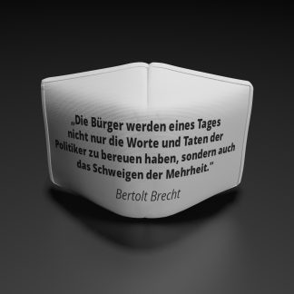 Alltagsmaske Bertolt Brecht