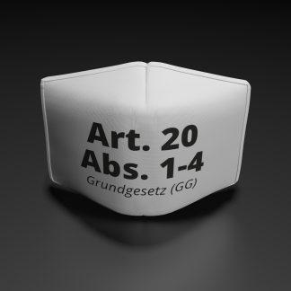 """Alltagsmaske """"Grundgesetz Artikel 20 Abs.1-4"""""""