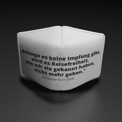 "Alltagsmaske Sebastian Kurz ""Solange es"