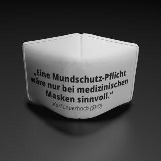 """Karl Lauterbach-""""Alltagsmasken nicht sinnvoll"""""""